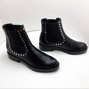 {Dolce Vita} Peton Studded Chelsea Leather Boots